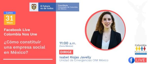 El Consulado General en México invita a participar en la conferencia virtual: ¿Cómo constituir una empresa en México?