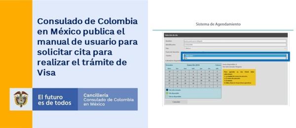 Consulado de Colombia en México publica el manual de usuario para solicitar cita para realizar el trámite