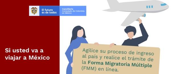 Si usted va a viajar a México puede diligenciar en línea la Forma Migratoria