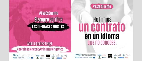 No sea víctima de trata, el Consulado de Colombia en México le invita a que siempre verifique si las ofertas de trabajo son reales